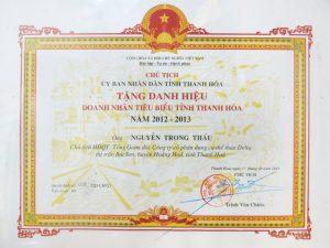 20131011 Doanh nhan tieu bieu Thanh hoa .