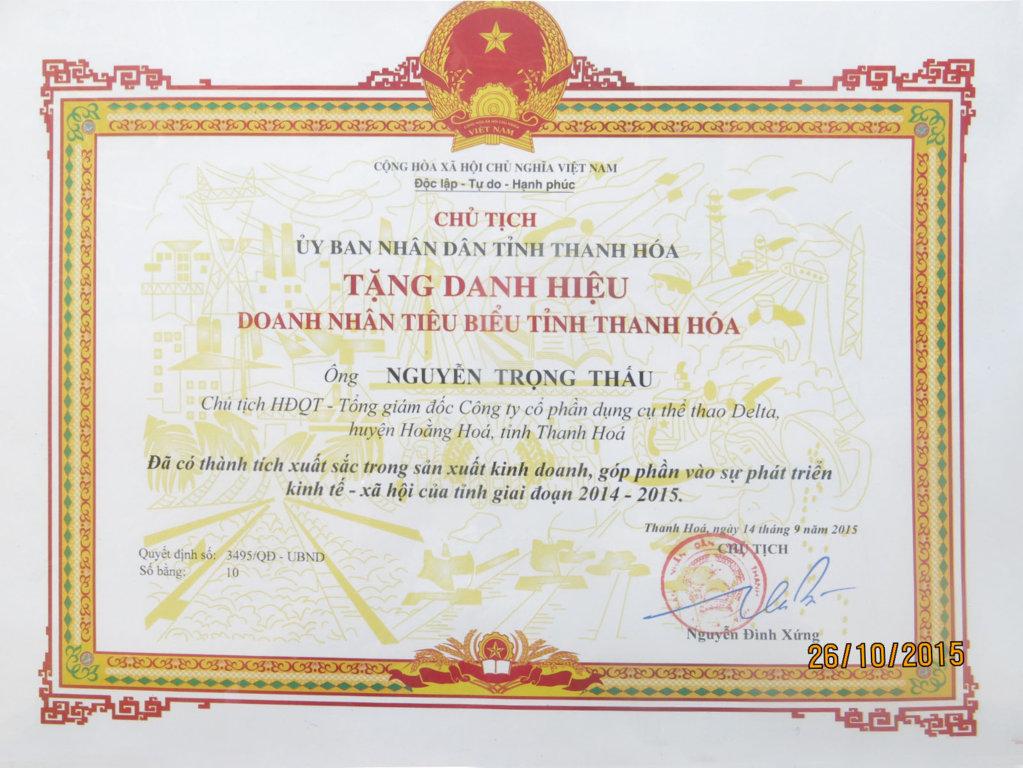20150914 TGD da co thanh tich sx trong hoat dong san xuat va kinh doanh 2014 - 2015 . .