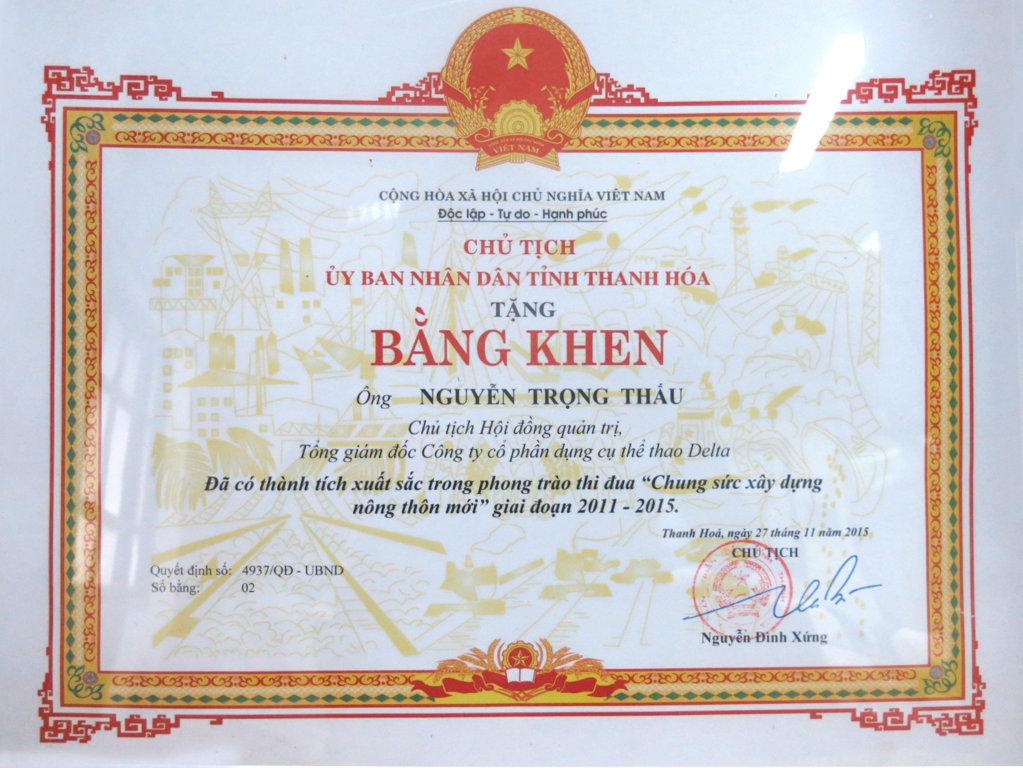 20151227 Da co thanh tich XS trong phong trao thi dua Chung suc XD Nong thon moi 11-15 TGD - .